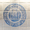 digital blue plate tiles