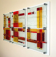 fused glass installation