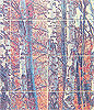 digital tile panel birch trees