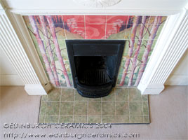 fireplace tiles view