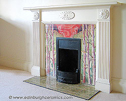 handpainted fireplace tiles