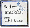 bed & breakfast digital stoneware tile